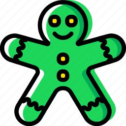 christmas, gingerbread, holiday, man, winter icon