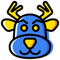 christmas, holiday, reindeer, winter icon