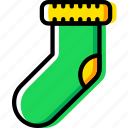 christmas, holiday, sock, winter icon