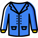 christmas, coat, holiday, winter icon