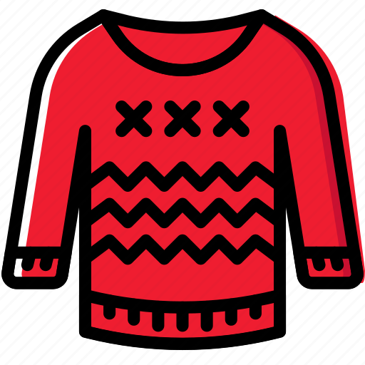christmas, holiday, sweater, winter icon