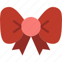 christmas, holiday, ribbon, winter icon