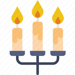 candles, christmas, holiday, winter icon