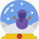 christmas, globe, holiday, snow, winter icon