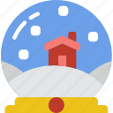 christmas, globe, holiday, snow, winter