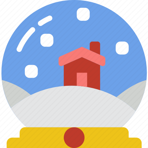 christmas, globe, holiday, snow, winter icon