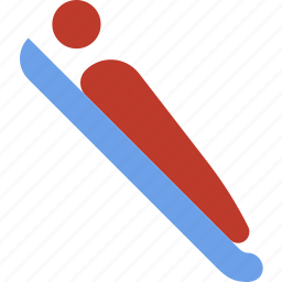 bobsled, christmas, holiday, winter icon