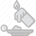 candle, christmas, dripping, holiday, winter icon