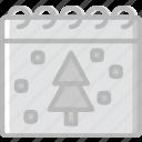 calendar, christmas, holiday, winter icon
