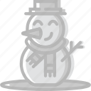 christmas, holiday, snowman, winter icon