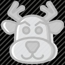 christmas, holiday, reindeer, winter icon