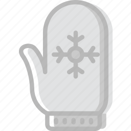 christmas, glove, holiday, winter icon
