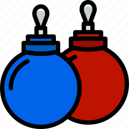 christmas, globes, holiday, winter icon