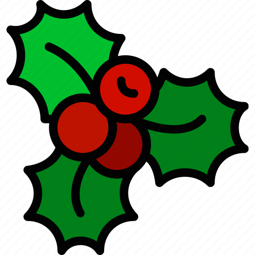 christmas, holiday, mistletoe, winter icon