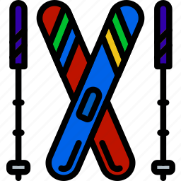 christmas, gear, holiday, ski, winter icon