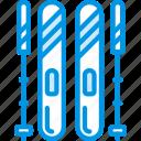 christmas, gear, holiday, ski, winter icon