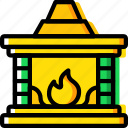 christmas, fireplace, holiday, winter icon