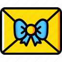 christmas, holiday, letter, winter icon