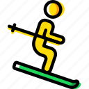 christmas, holiday, skiing, winter icon