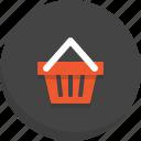 basket, cart, shopping, shopping basket icon, shopping cart, trolly