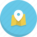 gps, location map, map, navigation, tracker icon