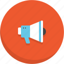 advertising, announcement, loudspeaker, marketing, megaphone, speaker icon