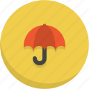 protection, umbrella, weather icon