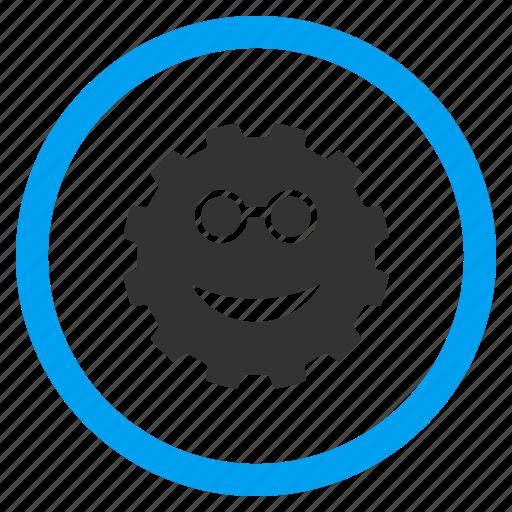 clever, glasses, idea, intellect, scientist, smart, think icon