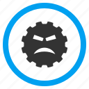 angry smile, anger, mad, sad face, furious, frustrated, annoyed icon