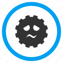 angry, bad, emoticon, negative emotion, pity, problem smiley, sad smile icon
