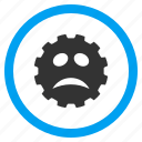 bad emotion, face, problem, sad smile, smiley, solution, troubles icon