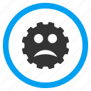 angry, bad, emoticon, emotion, problem, sad smile, smiley icon