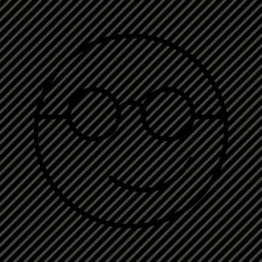 cool, emoji, emoticon, smile icon