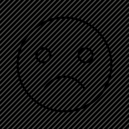 angry, emoji, emoticon, smile icon