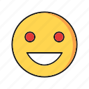 emoji, emoticon, laughing, smile icon