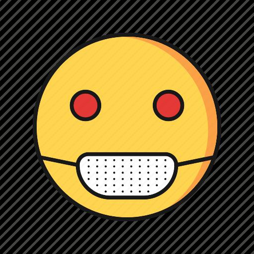 emoji, emoticon, sick, smile icon