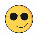 cool, emoji, emoticon, smile icon