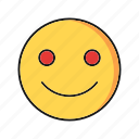 emoji, emoticon, happy, smile icon