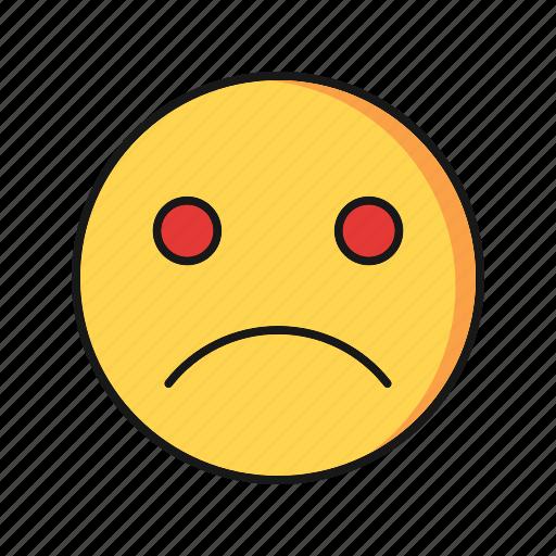 emoji, emoticon, sad, smile icon