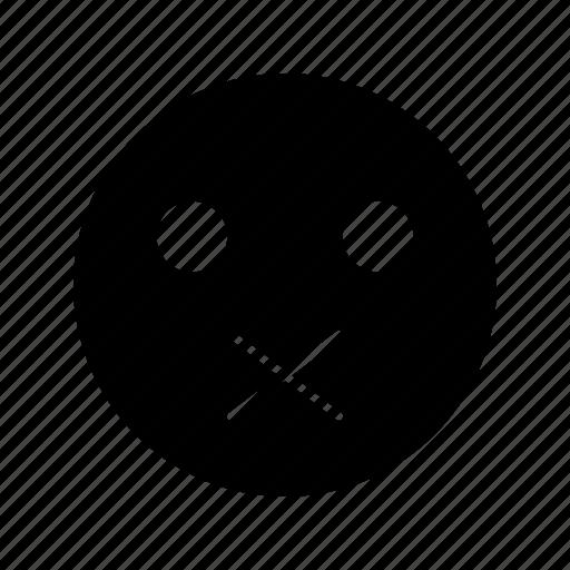emoji, emoticon, muted, smile icon