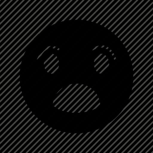 emoji, emoticon, smile, surprised icon