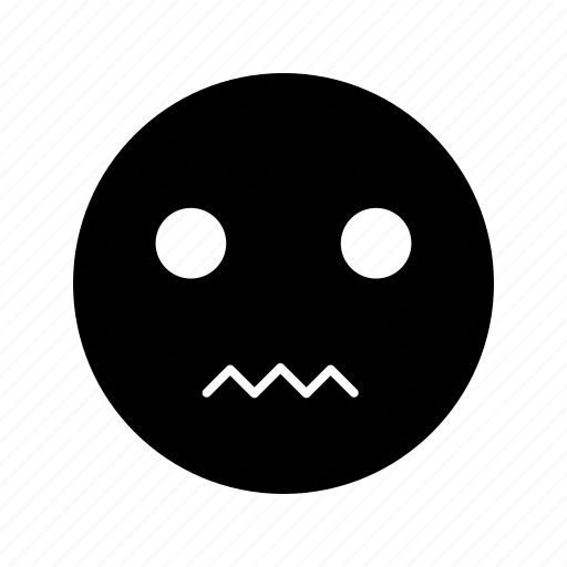 emoji, emoticon, nervous, smile icon