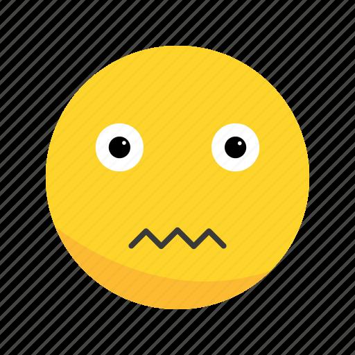 emoji, emoticon, nervous icon