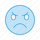 angry, emoji, emoticon icon
