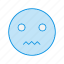emoji, emoticon, nervous icon