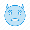 devil, emoji, emoticon, smile icon