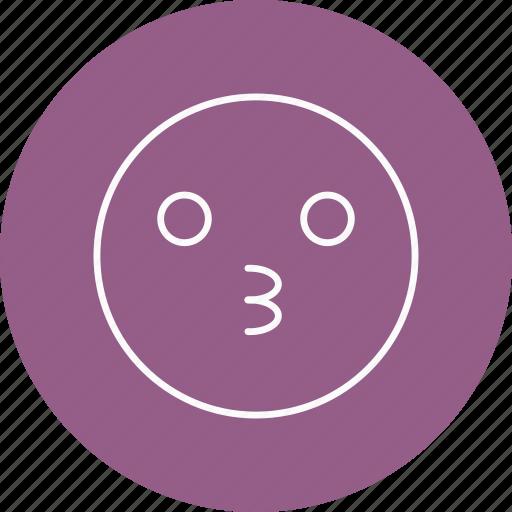emoji, emoticon, kiss icon