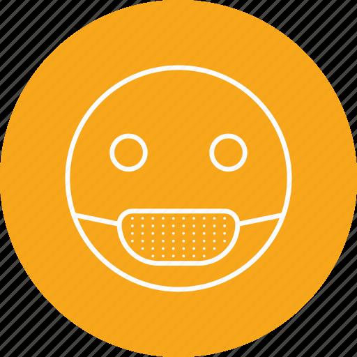 emoji, emoticon, sick icon