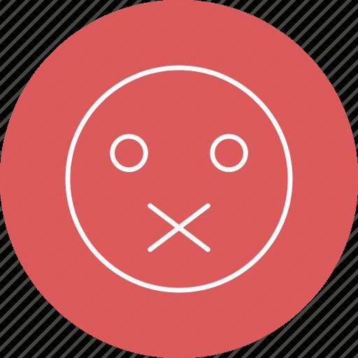 emoji, emoticon, muted icon