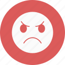 angry, emoji, emoticon, smile icon